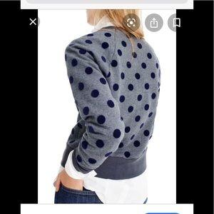 J.Crew polka dot sweatshirt